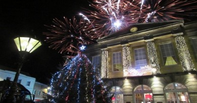 Fireworks over the Guildhall 20 Nov 2015