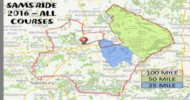 Sams Ride 2015 Routes