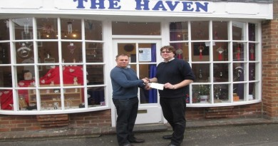 Councillor Denny presents Independent Retailer Grant to The Have