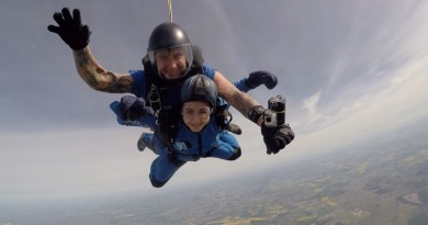 Lucy Balfe skydiving