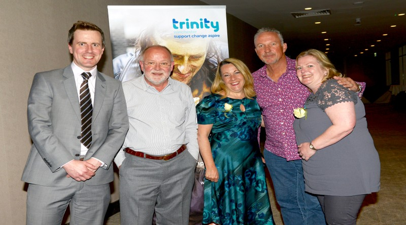 Sir Ian Botham with Staff and Trustees of Trinity Winchester