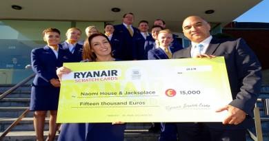 Ryanair Cheque Presentation