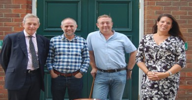 County Councillor Andrew Gibson, Broughton Parish Councillors Graham Cowley and Caroline Nokes MP