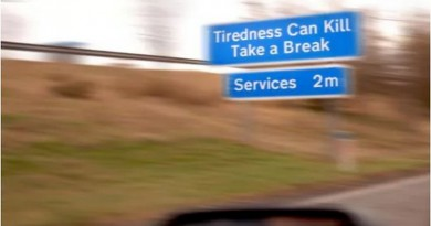 tiredness can kill sign