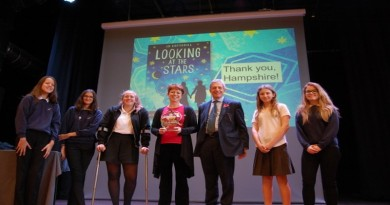fernhill-school-pupils-with-jo-cotterill-and-councillor-andrew-gibson