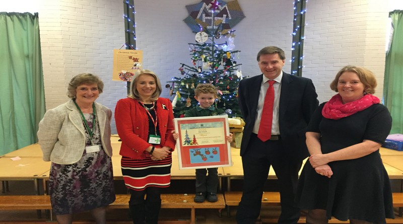 Dan Smyth, from St Faith's C of E Primary School Winner of Christmas Card Competition