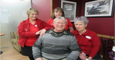 Gerry Scrivens with the toning ladies