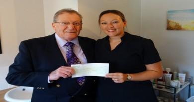 Councillor Cockaday presents Business Incentive Grant