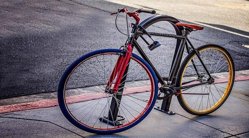 Bike with D lock
