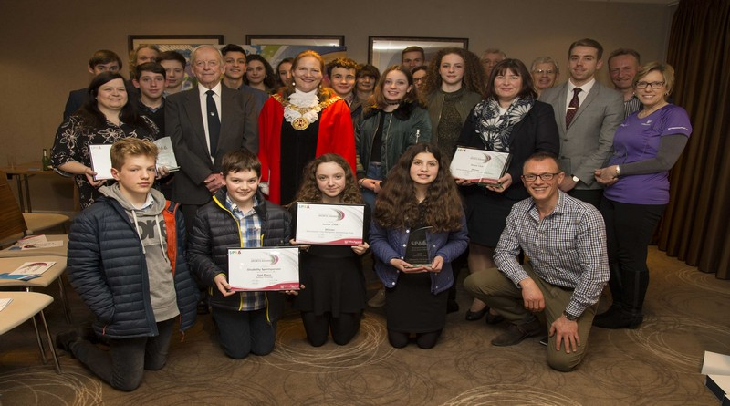 Sports Awards winners with Mayor of Winchester, Cllr Jane Rutter