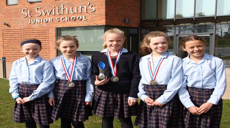St Swithun's Junior School biathlon success inspired by Olympian Kate French