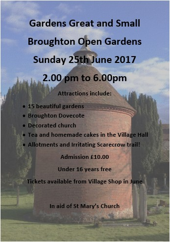 Broughton Open Gardens
