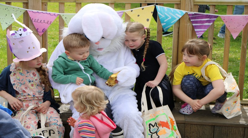 Easter Bunny surprise for children at Naomi House