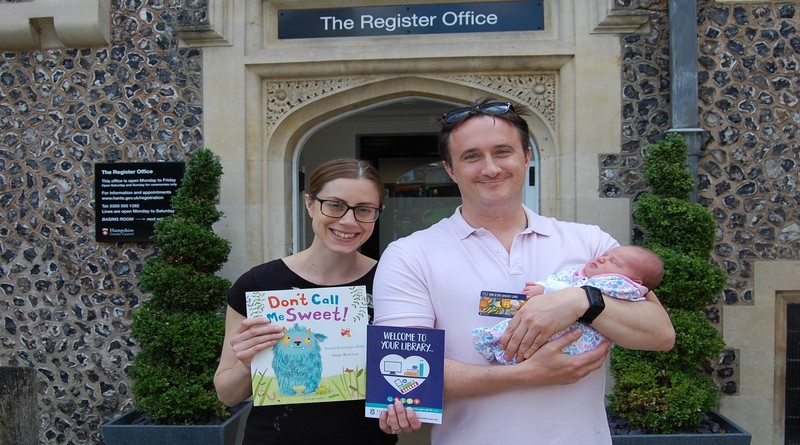 Hampshire Library cards for babies