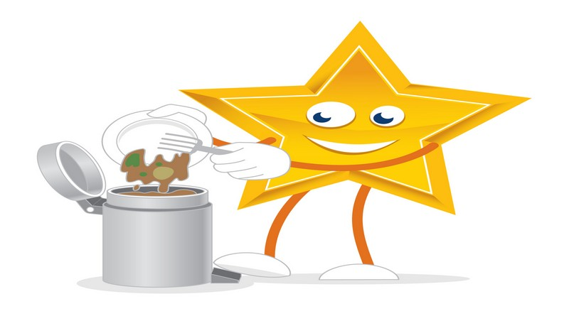 Food waste recycling star