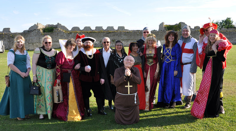 Rose Road Association's medieval ball at Portchester Castle was a colourful affair.