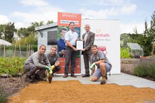 Paul Doidge, Tim Jackson and horticulture team