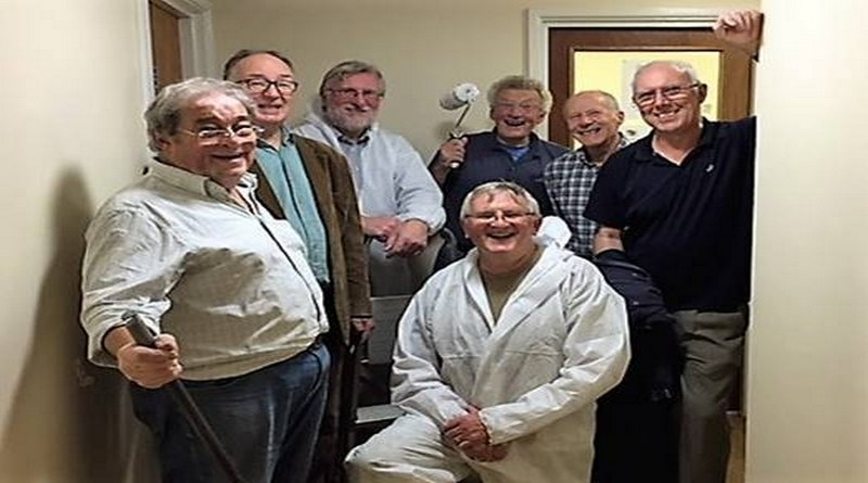 Anton Rotary Club Gives Lick of Paint to the Andover Foyer's River House in Junction Road