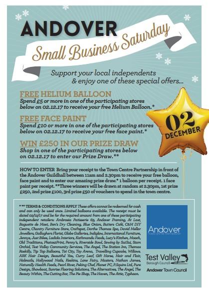 Small Business Saturday, Andover