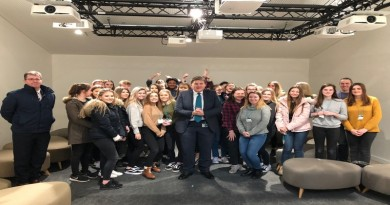 MP Kit Malthouse with Harrow Way Students