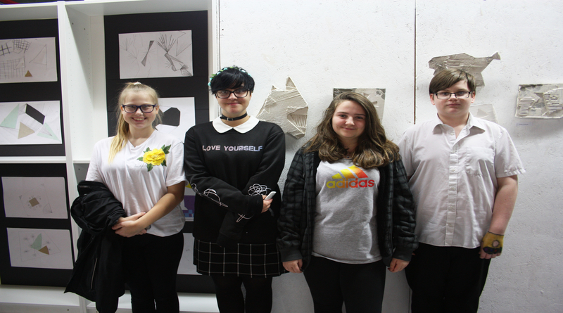 Winton Community Academy Students at Casting Connections Exhibition