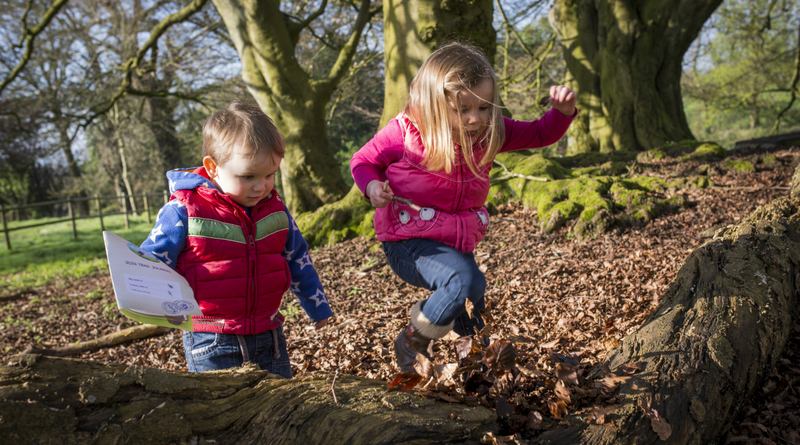 Children on an outdoor trail, credit National Trust Images