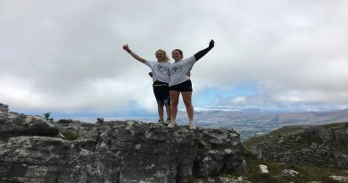 Anya Jackson and friend in South Africa