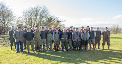Dave Ballantyne and Game and Wildlife Management Apprentices