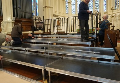 Upstaging of equipment for local Andover Church