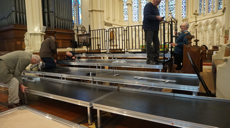 Stage equipment for local Andover church