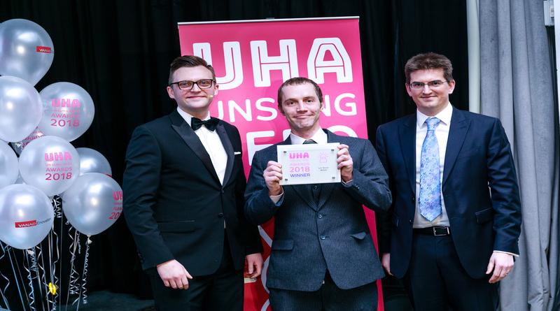 Daniel Spacagna won the Life Saver Award at the Unsung Hero Awards 2018
