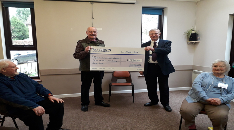 Grant presentation Kings Somborne exercise classes
