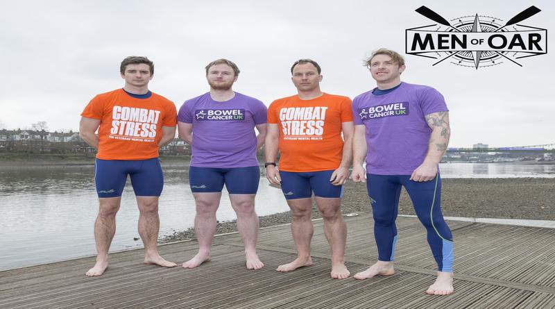 Men of Oar at Putney. L to R: Will Theakston, David Wallis, Robin Drysdale, Sam Bolt-Lawrence.
