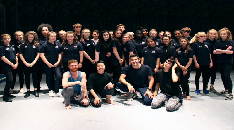Professional dancers hold workshop at Winton Community Academy
