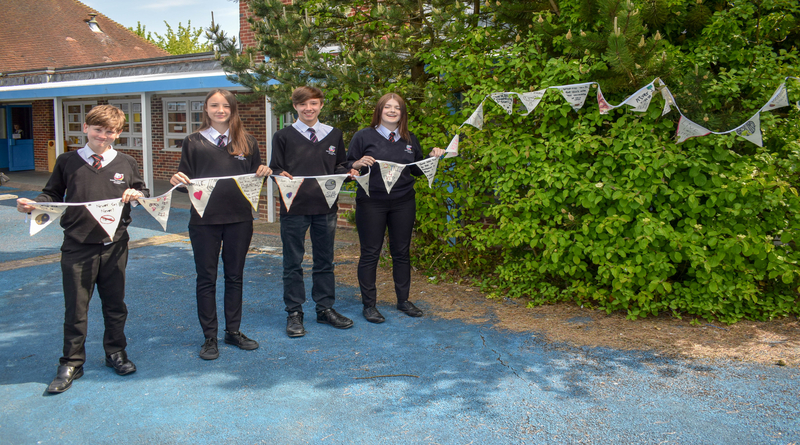 Winton Community Academy gets involved in the Great Big Bunting Off!