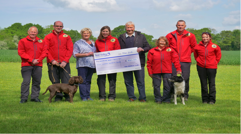 Hampshire Search and Rescue Dogs awarded Test Valley Borough Council Community Grant