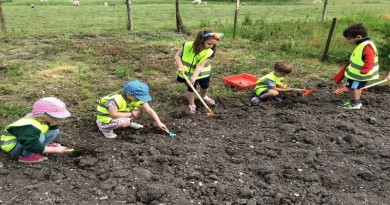 Little green fingers at Longparish Little School