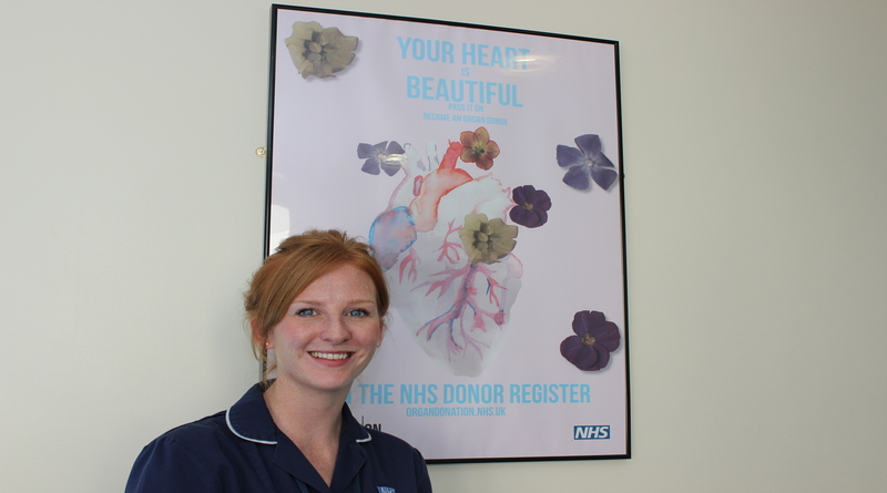 Organ donation specialist nurse, Laura English