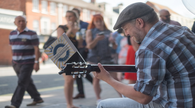 Entertainer Joe French at Winchester's independent Indie Winch Trail