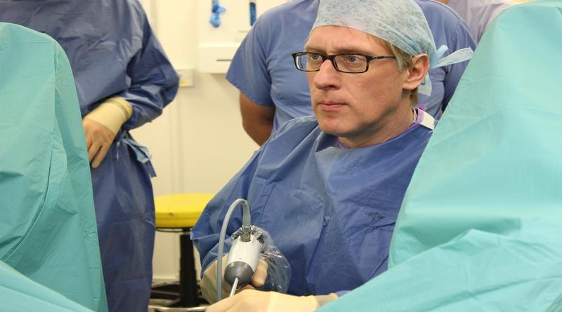 Professor Richard Hindley carrying out a Rezum procedure