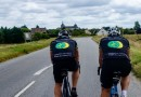 Rob Sanderson and Tim Daniels on their Caen to Cannes Cycle Challenge.