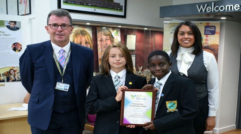 Harrow Way presented with Silver Award for high standard of training for teachers