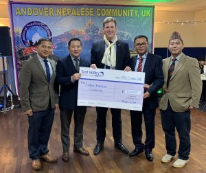 Andover Napalese Community cheque