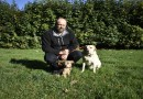 Animal Welfare Officer Rod Mason with his dogs Rolly, right, and Stanley.