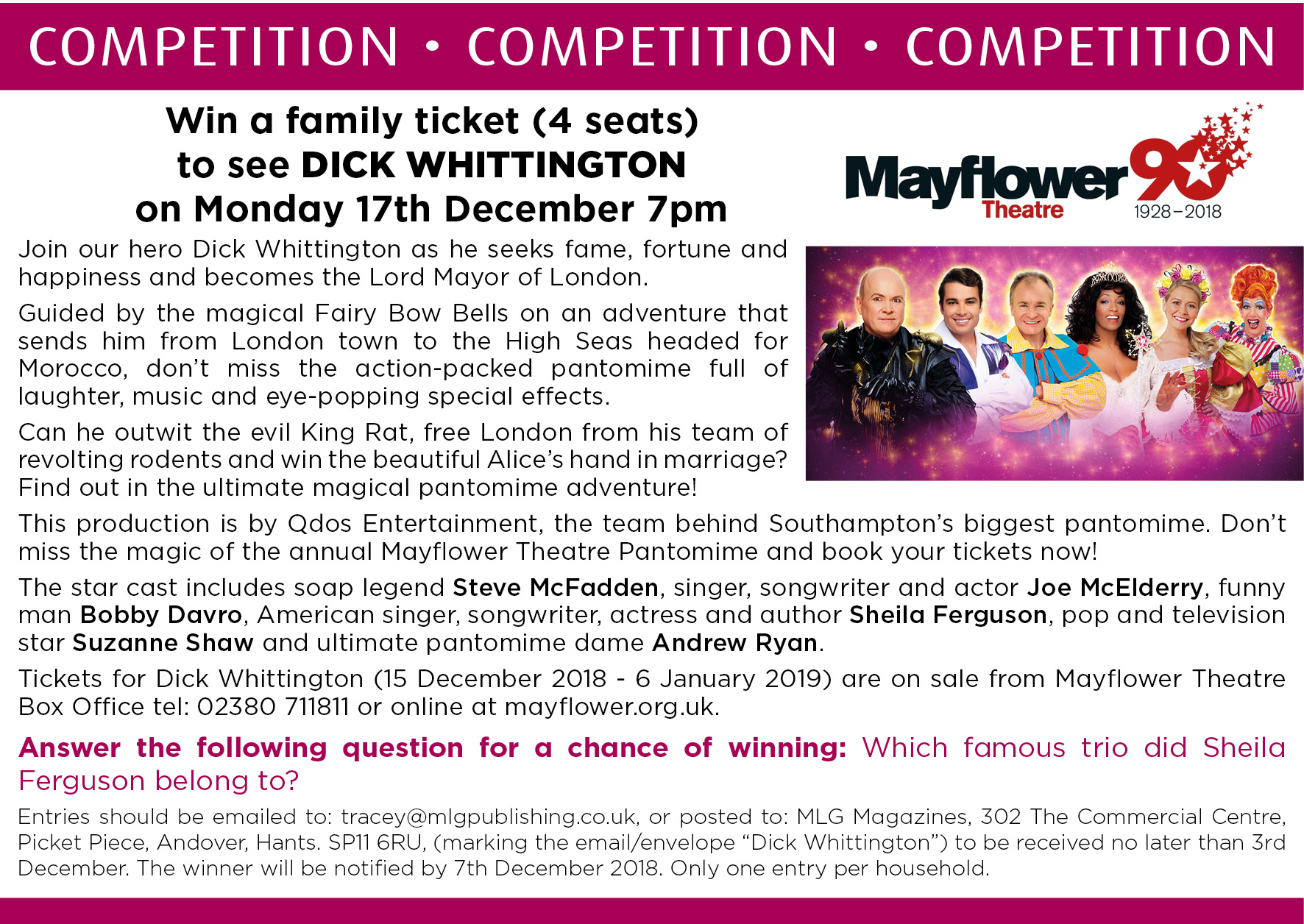 COMPETITION - Mayflower_Dick Whittington_nov18
