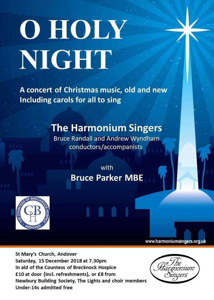The Harmonium Singers concert 15 Dec 2018 A4 poster