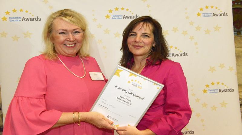 Improving Life Chances Award. Karen Lewis and Emma Sacre
