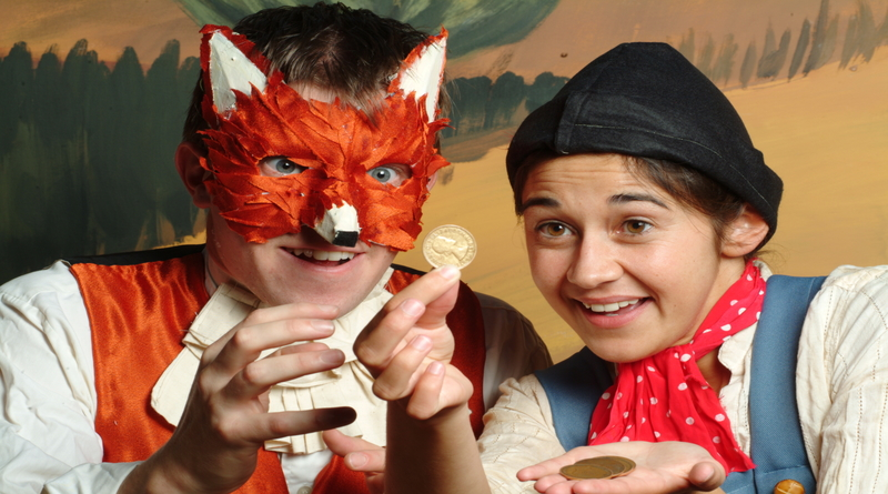 Pinocchio Fox and coins