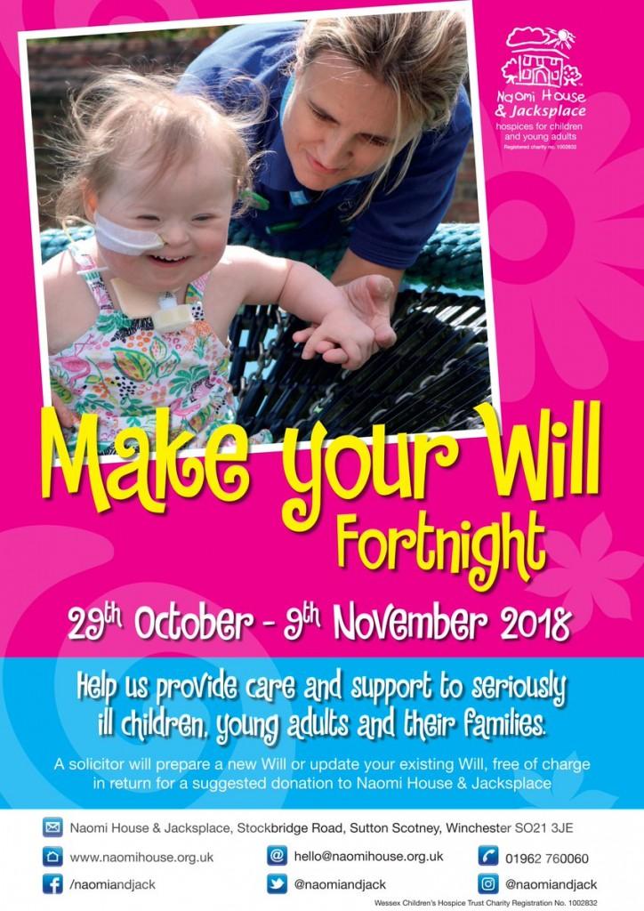 Make a Will Fortnight Naomi House and Jacksplace