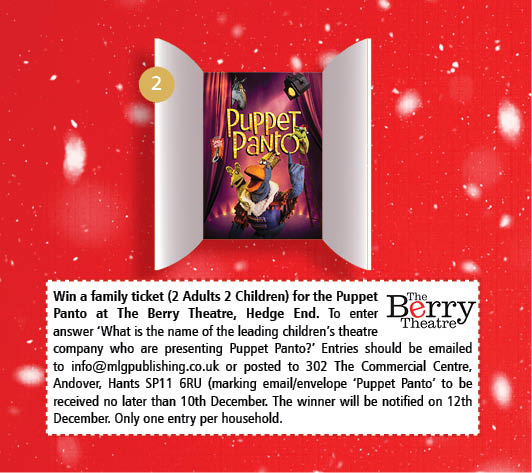 Door Number 2 -Win a family ticket (2 Adults 2 Children) for the Puppet Panto at The Berry Theatre, Hedge End